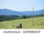 Open Farm Land With Mountain...