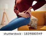 Woman With Strong Hip Pain At...