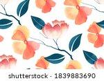 floral seamless pattern....   Shutterstock . vector #1839883690