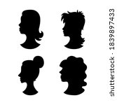 man and woman faces vector... | Shutterstock .eps vector #1839897433