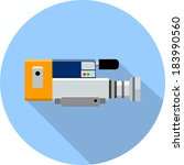 video camera flat icon | Shutterstock .eps vector #183990560