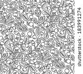 floral seamless pattern on... | Shutterstock .eps vector #183991274