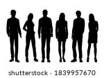 vector silhouettes of  men and... | Shutterstock .eps vector #1839957670