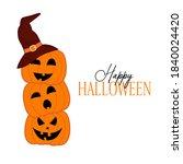 happy halloween banner with... | Shutterstock .eps vector #1840024420