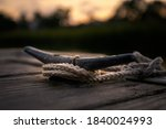 Cleat On A Wooden Dock During...
