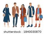 set of young men and women...   Shutterstock .eps vector #1840030870