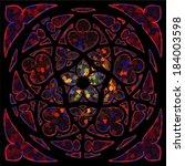 dark stained glass window  ... | Shutterstock . vector #184003598