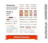 website elements for web... | Shutterstock .eps vector #184004300