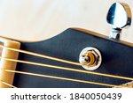 Close Up Macro Of A Guitar...