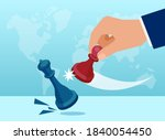 vector of a businessman making... | Shutterstock .eps vector #1840054450
