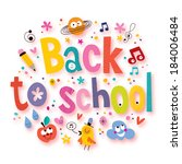 back to school | Shutterstock . vector #184006484
