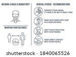 set of coronavirus covid19... | Shutterstock .eps vector #1840065526
