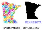 vector mosaic map of minnesota... | Shutterstock .eps vector #1840068259