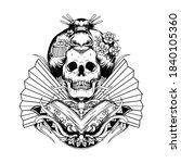 tattoo and t shirt design black ... | Shutterstock .eps vector #1840105360