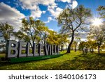 Sign of Belleville, Ontario, Canada at East Zwick