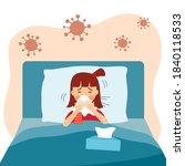 a girl children suffering from... | Shutterstock .eps vector #1840118533