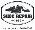 shoe repair sign. silhouette of ...   Shutterstock .eps vector #1840148389