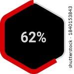 hexagon percentage diagrams...