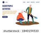 older people activities page... | Shutterstock .eps vector #1840154533