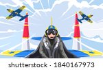 the pilot's in the fighter....   Shutterstock .eps vector #1840167973