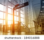 interior of the airport | Shutterstock . vector #184016888