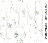 Seamless Pattern With Delicate...