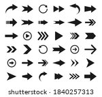 arrows big black icon set.... | Shutterstock .eps vector #1840257313