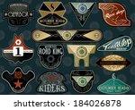 custom vintage label template... | Shutterstock .eps vector #184026878
