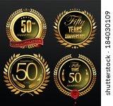 anniversary laurel wreath | Shutterstock .eps vector #184030109