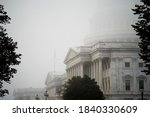 A Hazy And Blurry Photo Of The...
