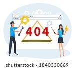 concept of 404 error web page ...