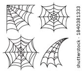 halloween cobweb or spiderweb... | Shutterstock .eps vector #1840381333