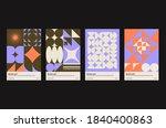 new modernism. brutalism... | Shutterstock .eps vector #1840400863