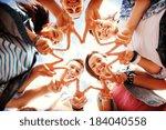 summer holidays and teenage... | Shutterstock . vector #184040558