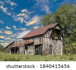 A Decaying Barn With Hayloft In ...