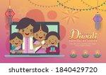 cartoon indian family having... | Shutterstock .eps vector #1840429720
