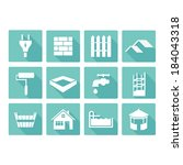 Vector Flat Construction Icons...