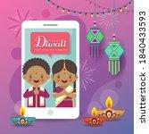 cartoon indian people having... | Shutterstock .eps vector #1840433593