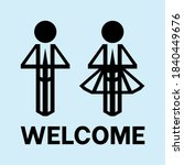 a welcome icon that is... | Shutterstock .eps vector #1840449676
