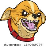 Angry Chihuahua On Vector...