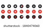 a set of round colored buttons...