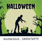 happy halloween poster vector... | Shutterstock .eps vector #1840476979