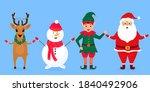 christmas elf  santa claus ... | Shutterstock .eps vector #1840492906