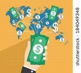 collect money  flat design...   Shutterstock .eps vector #184049348