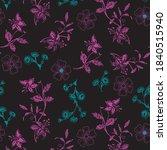 elegant flowers pattern on... | Shutterstock .eps vector #1840515940