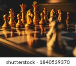Golden Chess Board Game....