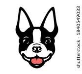 Boston Terrier Dog Vector...