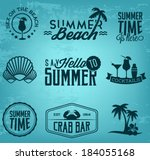 summer holiday calligraphic... | Shutterstock .eps vector #184055168