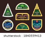vector cheese labels and... | Shutterstock .eps vector #1840559413