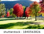 Small photo of Yreka California, USA Oct-24-2020: Greenhorn Park is Yreka's largest and most popular park, consisting of 500 acres surrounding Greenhorn Reservoir. Over a mile of paved, fully-accessible trails .